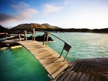 Lagoa azul, Islândia Imagens de Stock Royalty Free