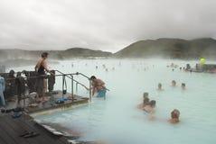 Lagoa azul, Islândia Foto de Stock