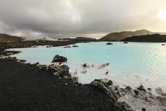 Lagoa azul, Islândia Fotos de Stock Royalty Free