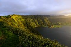 Lagoa Azul, lake in a crater, Azores archipelago (Portugal) Stock Photography