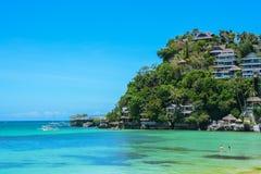 Lagoa azul na ilha de Boracay, Filipinas imagens de stock