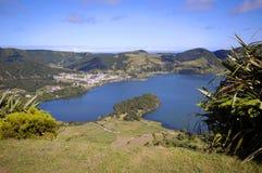 Lagoa Azul, Sao Miguel, de Azoren Stock Afbeeldingen