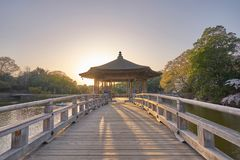 Lagoa bonita de Ukimido Pavillion Fotografia de Stock Royalty Free