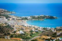 Lagoa bonita na Creta foto de stock