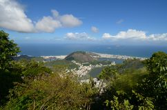 Lagoa, Botafogo Beach, sky, nature, cloud, mount scenery. Lagoa, Botafogo Beach is sky, mount scenery and wilderness. That marvel has nature, vegetation and royalty free stock photos