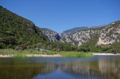 Lagoa Cala Luna. Sardinia Fotos de Stock Royalty Free
