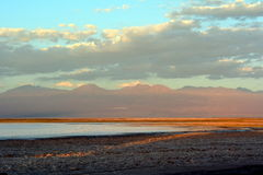 Lagoa Cejar de sal fotografia de stock