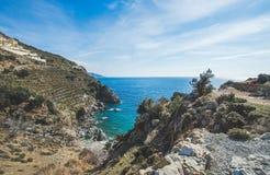 Lagoa clara natural bonita na costa de mar Mediterrâneo, Turquia imagem de stock