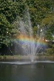 Lagoa com fonte, Alemanha foto de stock royalty free