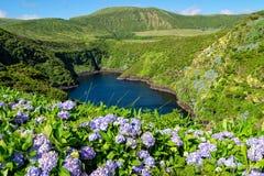 Lagoa Comprida - îles des Açores Photographie stock libre de droits