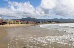 Lagoa da康塞桑-弗洛里亚诺波利斯,圣卡塔琳娜州,巴西巴拉岛da Lagoa地区海滩  免版税库存图片