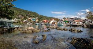 Lagoa da康塞桑-弗洛里亚诺波利斯,圣卡塔琳娜州,巴西巴拉岛da Lagoa地区  免版税库存图片