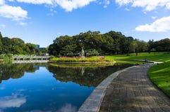 Lagoa da cidade e fonte, parque de Sydney University Fotografia de Stock Royalty Free