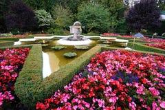 Lagoa da estrela em jardins do butchart Fotos de Stock Royalty Free