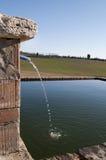Lagoa da exploração agrícola Fotografia de Stock