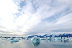 Lagoa da geleira Fotos de Stock Royalty Free