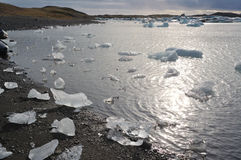 Lagoa da geleira Fotografia de Stock Royalty Free