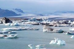 Lagoa da geleira Fotografia de Stock