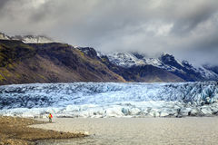 Lagoa da geleira de Fjallsarlon Fotos de Stock