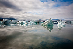 Lagoa da geleira de Jökulsárlón Foto de Stock Royalty Free