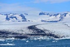 Lagoa da geleira de Jokulsarlon em Islândia do sudeste Fotos de Stock
