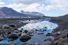 Lagoa da geleira de Skaftafellsjokull Imagens de Stock