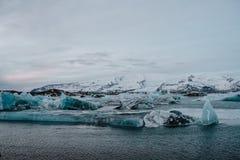 Lagoa da geleira do ³ n do rlà do ¡ de Jökulsà em Islândia Imagens de Stock