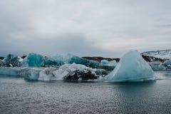 Lagoa da geleira do ³ n do rlà do ¡ de Jökulsà em Islândia Foto de Stock Royalty Free