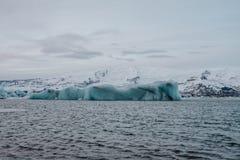 Lagoa da geleira do ³ n do rlà do ¡ de Jökulsà em Islândia Fotografia de Stock