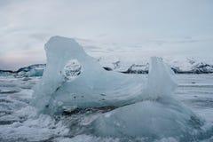 Lagoa da geleira do ³ n do rlà do ¡ de Jökulsà em Islândia Imagem de Stock Royalty Free