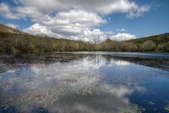 A lagoa da geleira do La Lucenza Foto de Stock Royalty Free