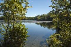 Lagoa da lixívia no parque estadual da região limítrofe imagem de stock