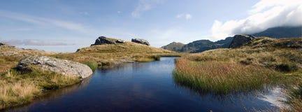 Lagoa da montanha foto de stock royalty free