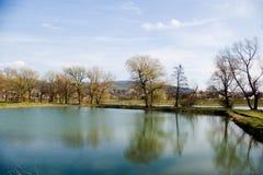 Lagoa da pesca Imagem de Stock
