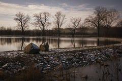 Lagoa da vila Fotos de Stock Royalty Free