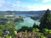 Lagoa das 7 cidades. Lake on Acores island Royalty Free Stock Photos