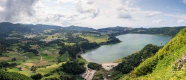 Lagoa DAS Furnas, sao Miguel, îles des Açores, Portugal photos stock