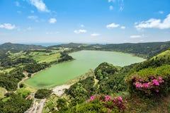 Lagoa DAS Furnas, Sao-Miguel-Insel, Azoren, Portugal lizenzfreie stockfotografie