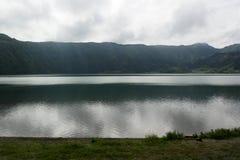 Lagoa das Sete Cidades,圣地米格尔,葡萄牙 免版税库存图片