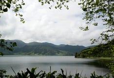Lagoa das Sete Cidades,圣地米格尔,葡萄牙 免版税库存照片
