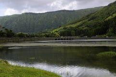 Lagoa das Sete Cidades Royaltyfri Bild