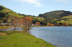 Lagoa das Sete Cidades Royalty-vrije Stock Fotografie