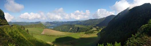 Lagoa das Sete Cidades de Azoren stock afbeelding