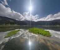 Lagoa das Sete Cidades de Azoren Royalty-vrije Stock Fotografie