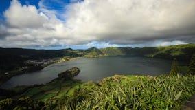 Amazing view of Seven Cities Lake `Lagoa das Sete Cidades`in São Miguel Island - Azores - Portugal. `Lagoa das Sete Cidades`in São Miguel Island - Azores stock photos