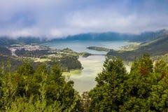 Lagoa das Sete Cidades. Sao Miguel island, Azores archipelago. Portugal stock photography