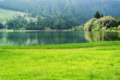 Lagoa das Sete Cidades, sao Miguel, Portogallo Fotografia Stock