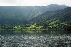 Lagoa das Sete Cidades, sao Miguel, Portogallo Fotografie Stock