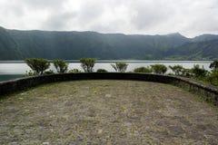 Lagoa das Sete Cidades, sao Miguel, Portogallo Immagine Stock