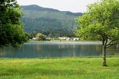 Lagoa das Sete Cidades, sao Miguel, Portogallo Immagine Stock Libera da Diritti